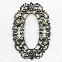 Grand Oval Filigree Framework Oxidized Silver (1)