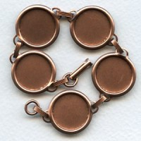 ^Bracelet Finding 18mm Settings Oxidized Copper