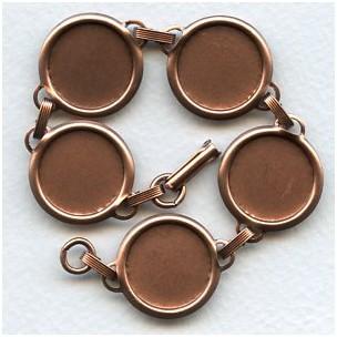 ^Bracelet Finding 18mm Settings Oxidized Copper
