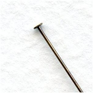 Extra Thin 24 Gauge Head Pins Oxidized Brass 1 1/2 Inch (100)
