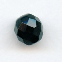 ^Jet Preciosa Cut Round Faceted Beads 12mm