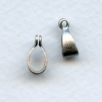 Bail with a Loop Oxidized Silver 11mm (6)