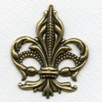Show Stopping Fleur-de-Lis Stamping Oxidized Brass (1)