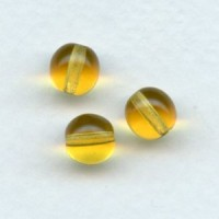 Smooth European Glass Druk Beads Topaz 8mm