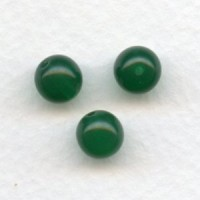 Chrysoprase Smooth Glass Round 8mm Beads