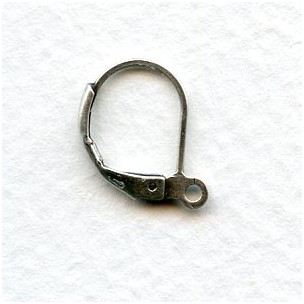 Lever Back Earring Finding with Loop Oxidized Silver (24)
