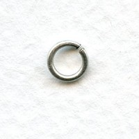 Round Jump Rings 5.8mm Oxidized Silver