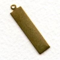Logo Tags Rectangle Raw Brass 29mm (12)