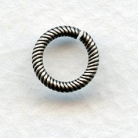 Sturdy Twisted Wire 9mm Jump Rings Oxidized Silver (24)