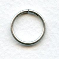 Jump Rings 16mm Round Oxidized Silver (24)