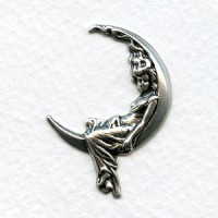 Goddess in the Moon Stampings Oxidized Silver (6)