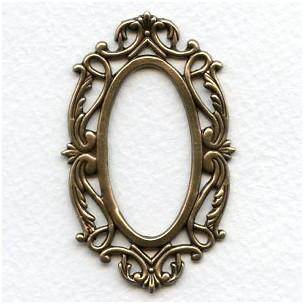 Splendid Oval Openwork Frames Oxidized Brass (3)