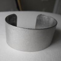 Smooth Oxidized Silver Flat Cuff 28mm (1)