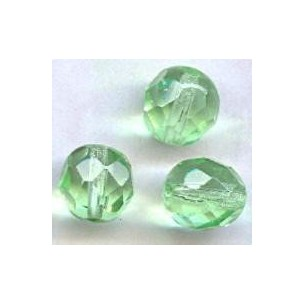 ^Peridot Fire Polished Round Faceted Beads 8mm