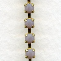^Cup Rhinestone Chain Gold Opal Violet SS12 Stones (1 ft)