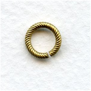 Sturdy Twisted Wire 9mm Jump Rings Raw Brass (24)