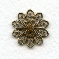 Round Filigree 20mm Connectors Oxidized Brass (6)