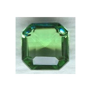 Peridot Glass Square Octagon Stones 8x8mm