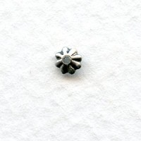 *World's Smallest Fluted Bead Caps 3mm Oxidized Silver (50)