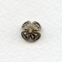 Filigree Bead Caps Oxidized Brass 10mm (12)