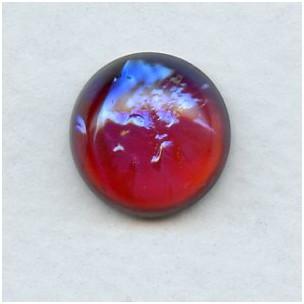 Dragon Breath Mexican Opal Glass Cabochon 15mm (1)