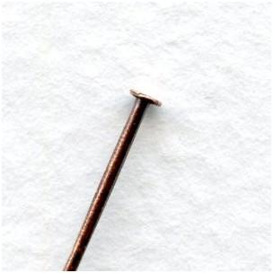 Head Pins 2 Inch Standard 21 Gauge Oxidized Copper (100)