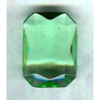 ^Peridot Glass Octagons Unfoiled 14x10mm (2)