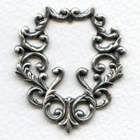 Ornate Framework Piece Oxidized Silver 46mm (1)