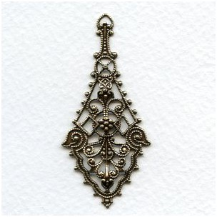The Ultimate Filigree Pendants Oxidized Brass 55mm (2)