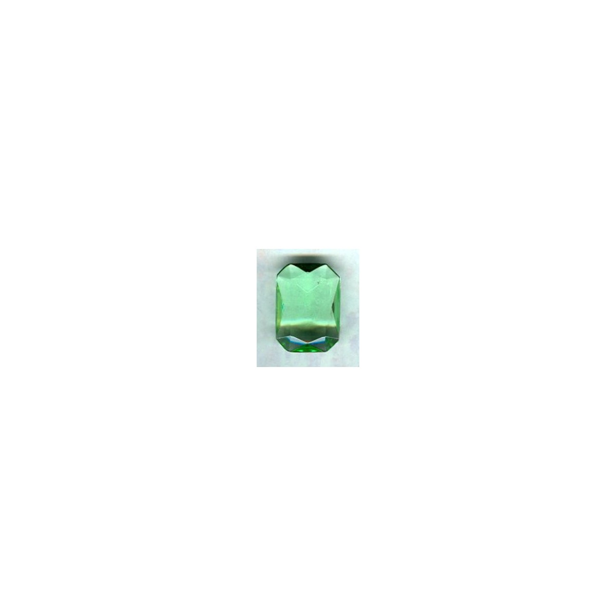Peridot Glass Octagons Unfoiled 12x10mm