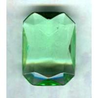 Peridot Glass Octagon Unfoiled Jewelry Stone 25x18mm