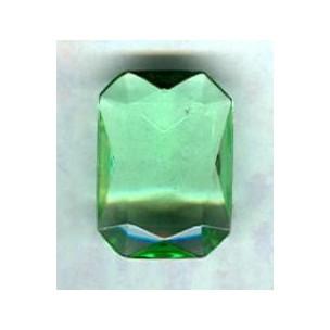 ^Peridot Glass Octagon Unfoiled Jewelry Stone 25x18mm (1)