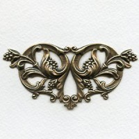 Resplendent Berries and Flourishes Stamping Brass (1)