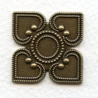 Heart Detail Stampings Oxidized Brass 26mm (6)