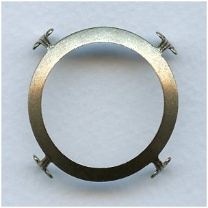 Open Back Turtle Setting Oxidized Brass 38mm (3)