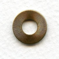 Flat Round Connectors 13mm Oxidized Brass