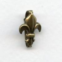Fleur-de-Lis Bails 18mm Oxidized Brass (3)