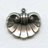 Shell Design Stamping with Loop Oxidized Silver 21mm (6)