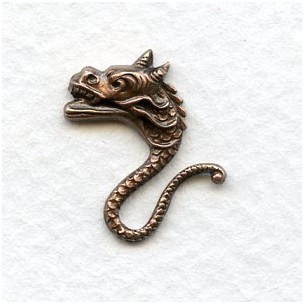 Mythical Sea Creatures 19mm Oxidized Copper (4)