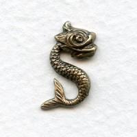Mythical Sea Monkeys 18mm Oxidized Brass (4)