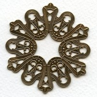 Dramatic Ribbons Round Flat Oxidized Brass 62mm (1)