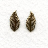 Favorite Leaves 12mm Smaller Size Oxidized Brass (12 pairs)