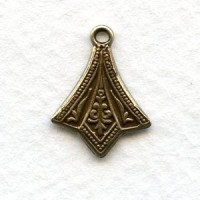 Add a Loop Pendant Stamping Oxidized Brass (12)