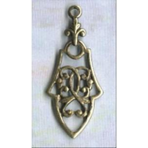 ^Pendant Drops Gothic Details Oxidized Brass (12)