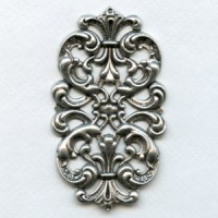 Elegant Dramatic Stamping Oxidized Silver (1)