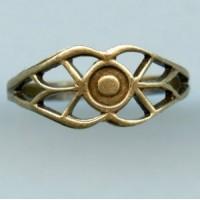 Filigree Design Finger Ring Oxidized Brass (1)