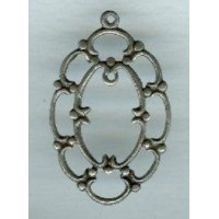 Pendant Frames Oxidized Silver Plated 31mm
