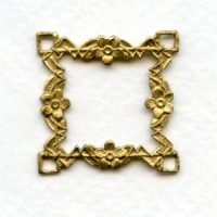 Floral Framework 26mm Connectors Raw Brass (2)
