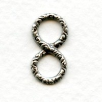 Infinity Symbol Connectors 20mm Oxidized Silver