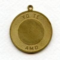 ^Yo Te Amo Spanish I Love You Charm Raw Brass